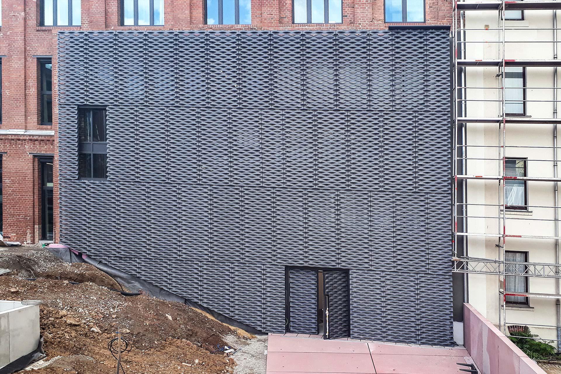 B&O Chemnitz, Bürogebäude Chemnitz - Lochfassade Streckmetall Innenhof