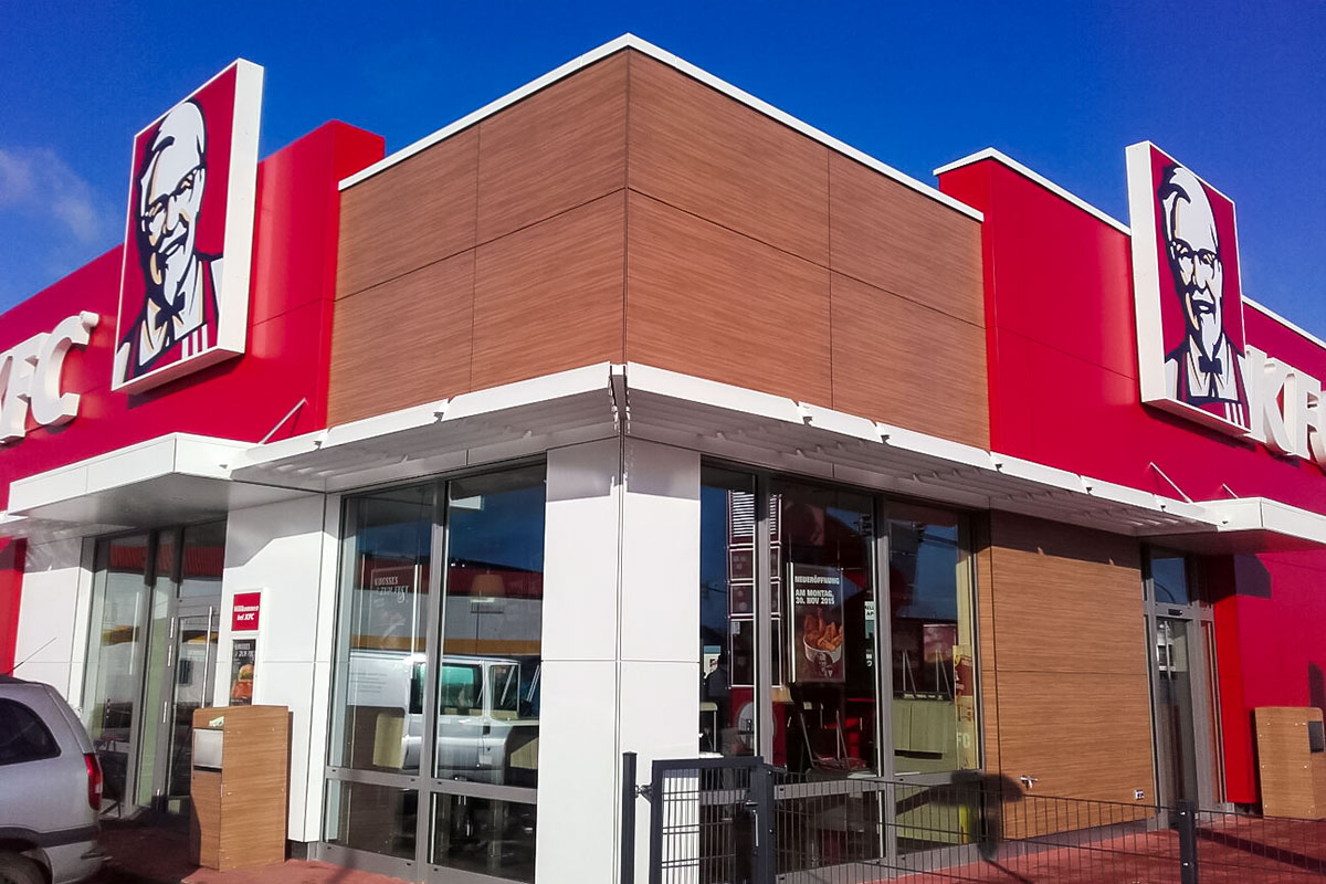 Projekte: KFC-Restaurant in Euskirchen (2015) - Systemgastronomie-Neubau in 6 Monaten