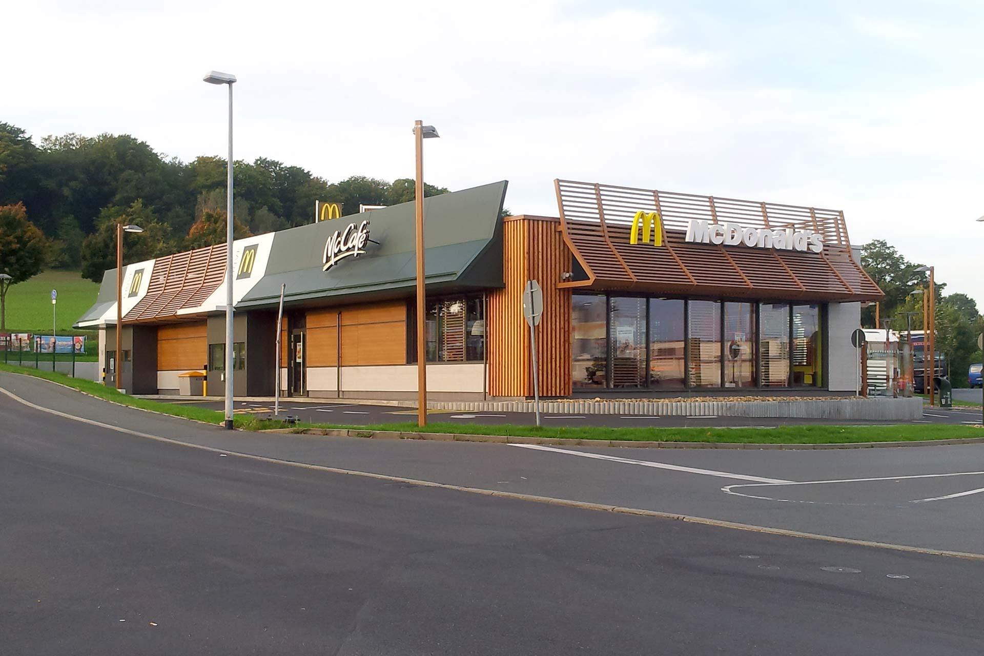 Neubau McDonald's Restaurant Dresden-Weißig