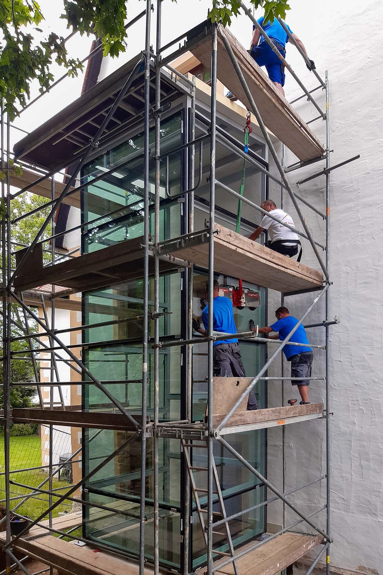 Projekte: Fahrstuhlverkleidung in Chemnitz (2021)