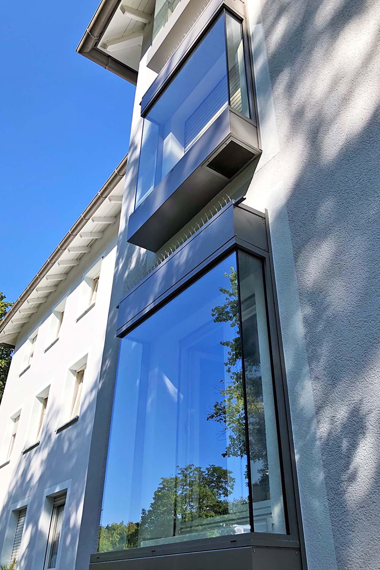Projekte: Schallschutz für Fenster von Wohnhäusern